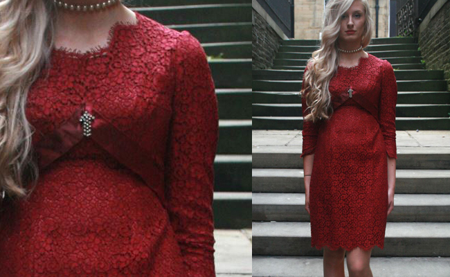 Red Lace Vintage Dress