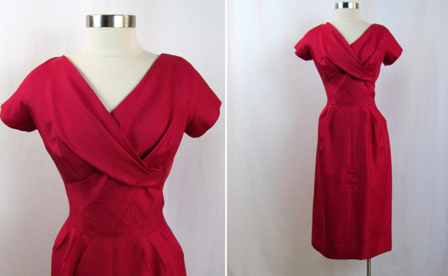 1960s | Jean of California Pink Silk Dress