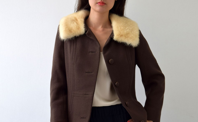 1960s Mink Collared Jacket Beautiful Quality