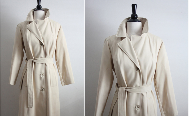 Vintage 1970s Classic Trench Coat
