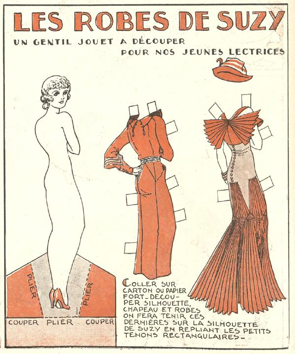 vintage 1930s paper doll