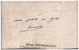 Miss Fernande French Postcard