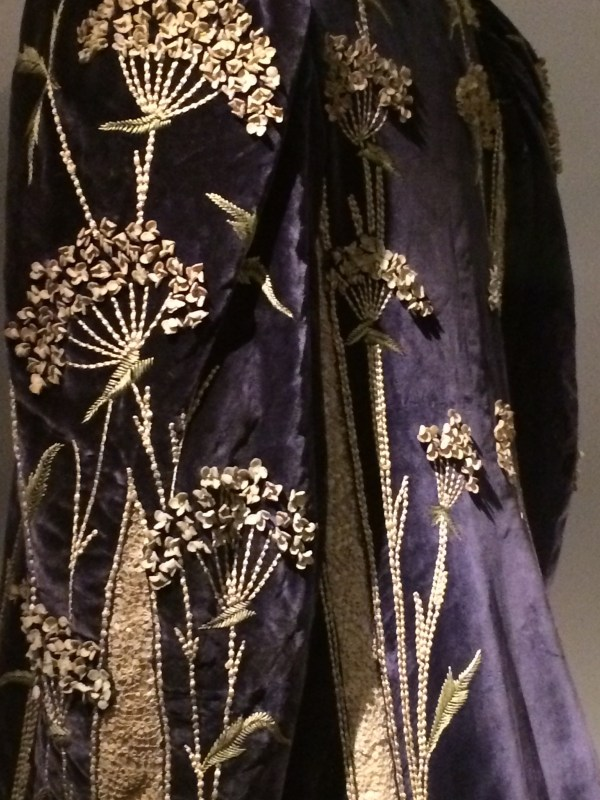 Edwardian Embroidery on a coat