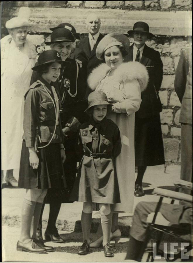 Princess Elizabeth, Princess Margaret and The Queen Mother