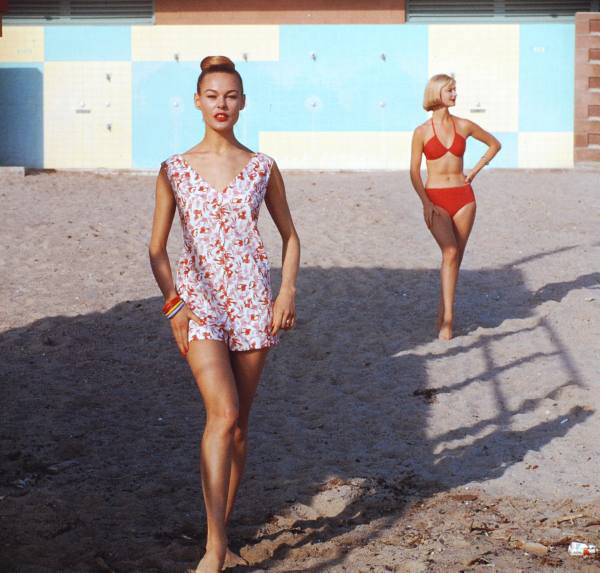 1950s swimwear fashion shoot