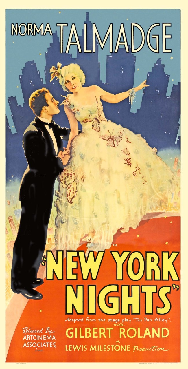 Film poster for New York Nights, a 1929 crime film