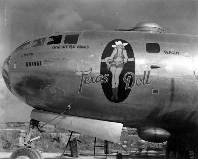 Texas Doll nose art WW2