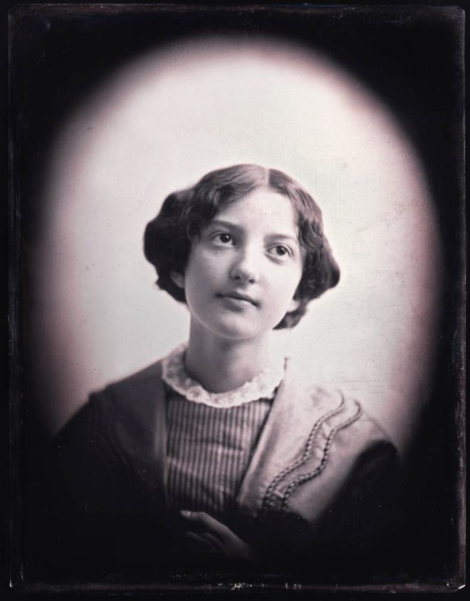 Victorian daguerreotype photo portrait