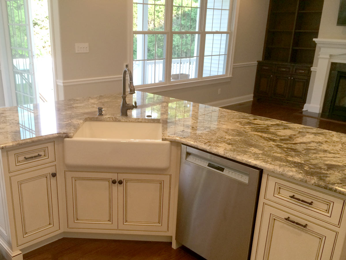 kitchens kitchen remodeling nj Full Kitchen Island with an Apron Sink in NJ Kitchen Renovations