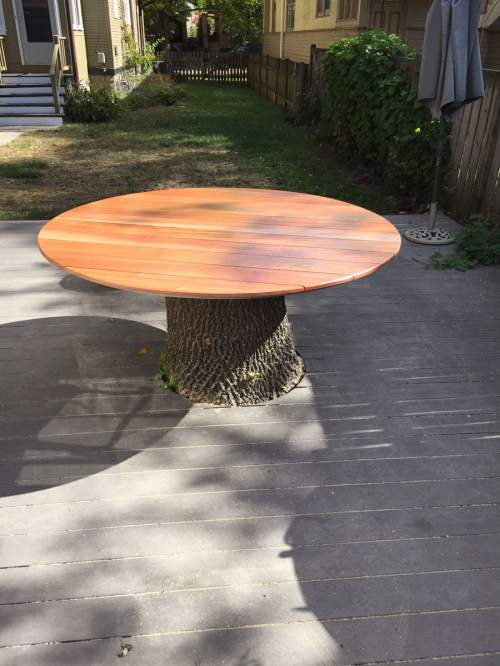 Medium Of Tree Stump Table