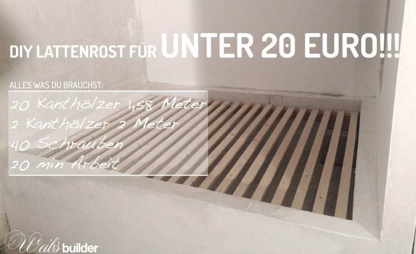 DIY Lattenrost für unter 20 Euro