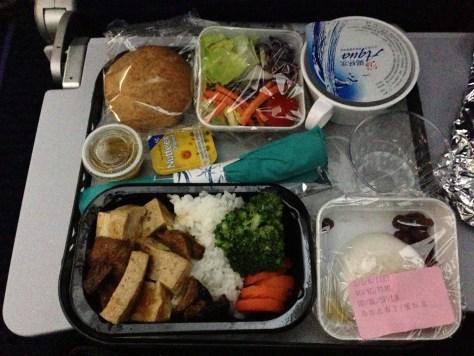 TPE->HNL素食第一餐