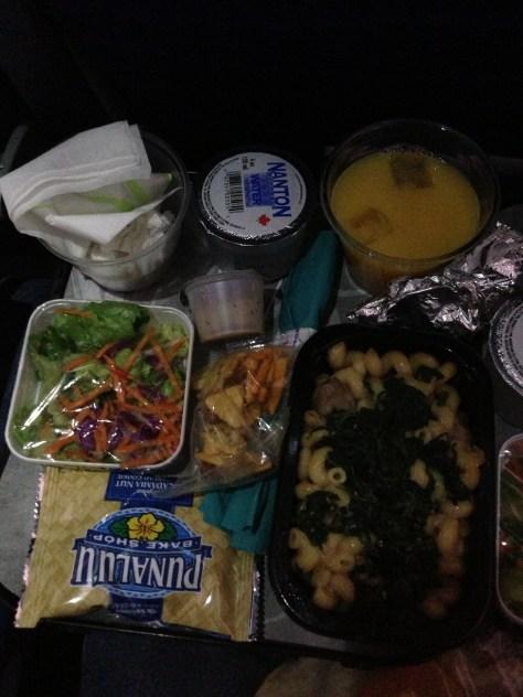 LAX->HNL素食餐