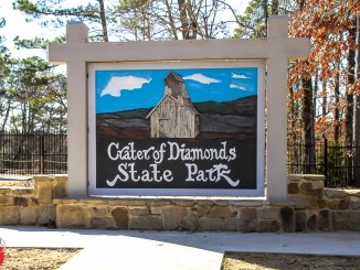 The Crater of Diamonds State Park in Arkansas