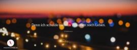 Facebook Titelbild mit diesem schönen Spruch über das Leben und Träume.