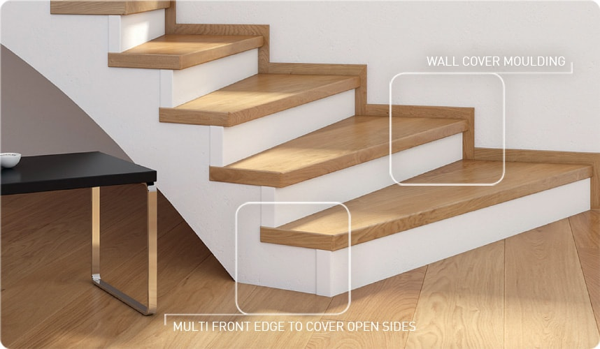 Matching Staircases For Every Wooden Floor Weitzer Parkett - Pose De Plinthe Bois