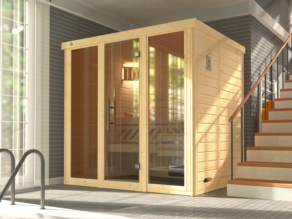 Sauna Shop 24 Premium Massivholz Elementsauna Quotkemi 2 Gt2f Quot Graphit