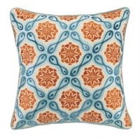 kate spain orange and blue bahir pillows | welcome2gainesvegas