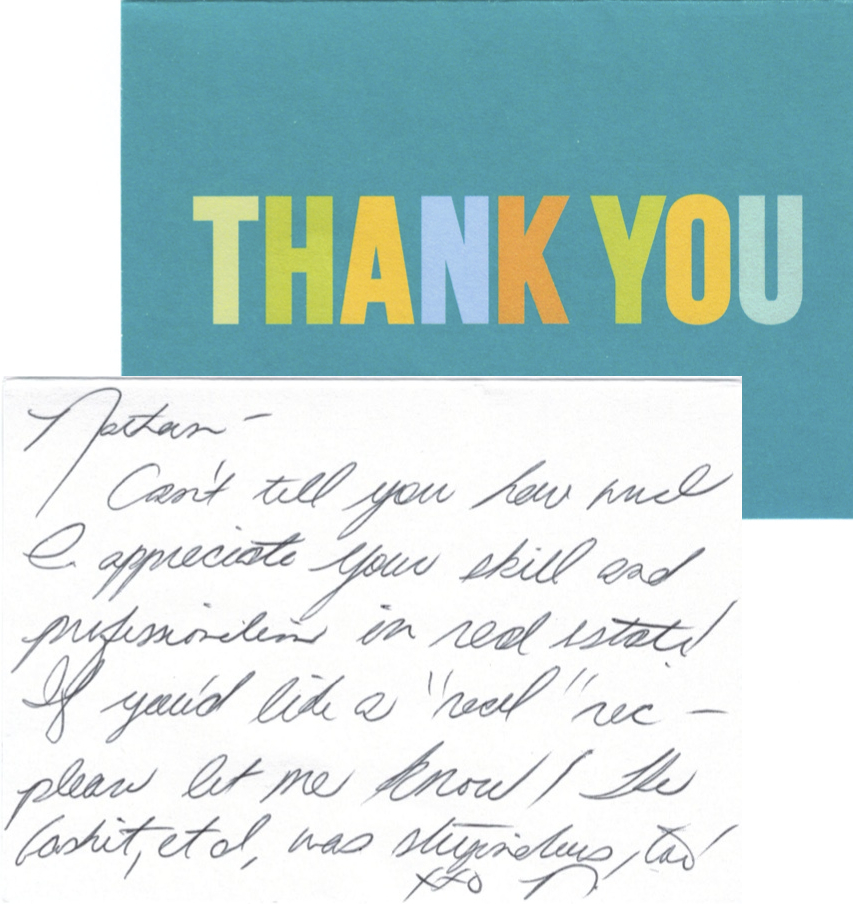 Thank You Letter Realtor – Real Estate Referral Letter