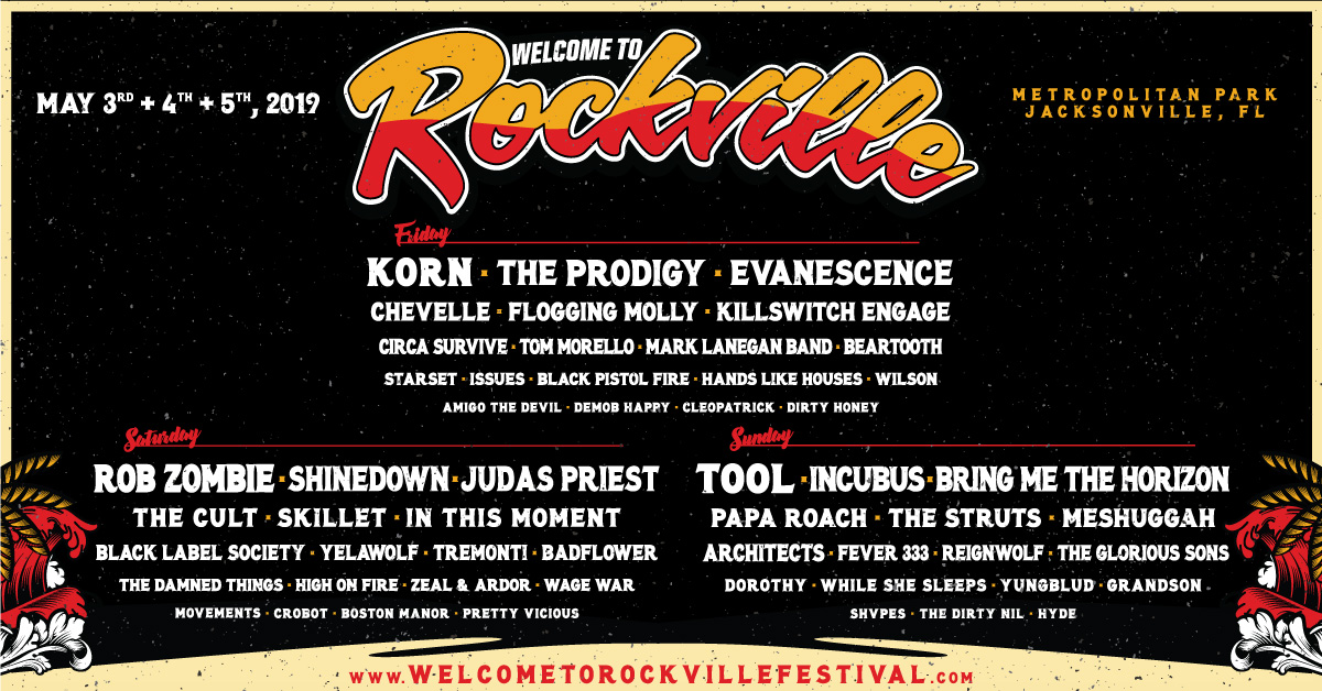 Lineup - Welcome to Rockville