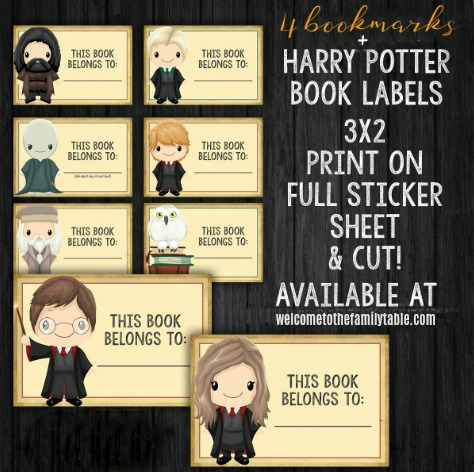 Printable Harry Potter Bookmarks + Book Labels - Welcome to the