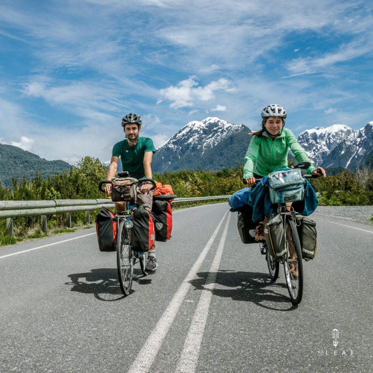 Two cyclists on the Carretera Austral in Chile