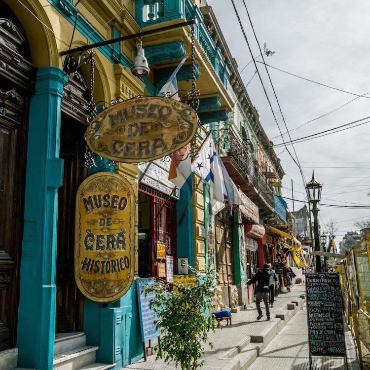 Museo de Cera in El Caminito street in La Boca