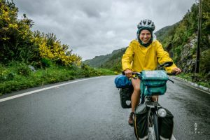 Cyclist on the Carretera Austral