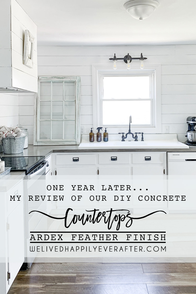 Making Your Own Concrete Countertop Review Of Our Diy Ardex Feather Finish Concrete Countertops One