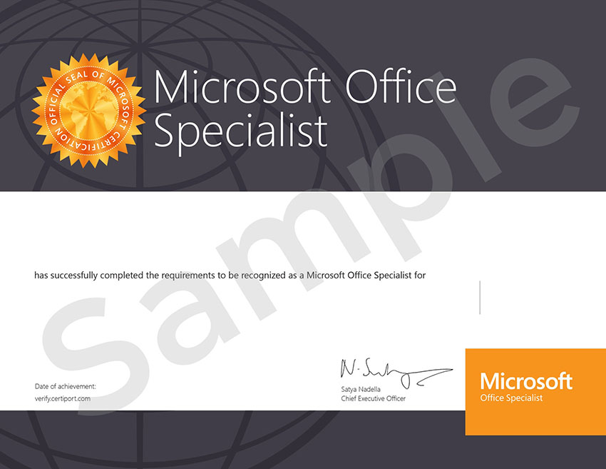Microsoft Office Certification, MOS Welkin Systems Limited