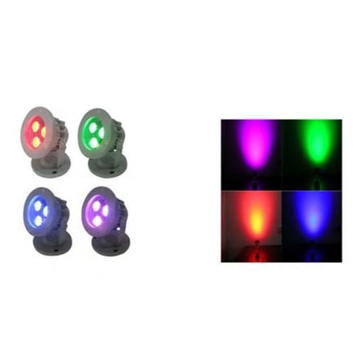 12V RGB LED Gartenlampen Außen Garten Spots Farbwechsel steuerbar IP65 - lampen ausen led