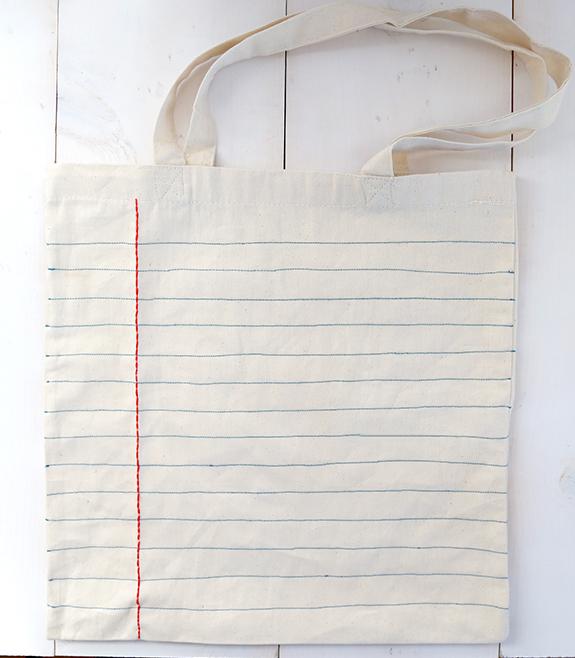 DIY notebook tote