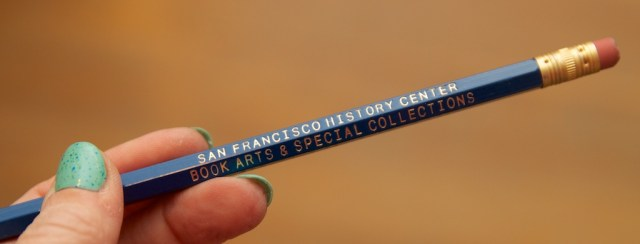SFPL Special Collection Pencil
