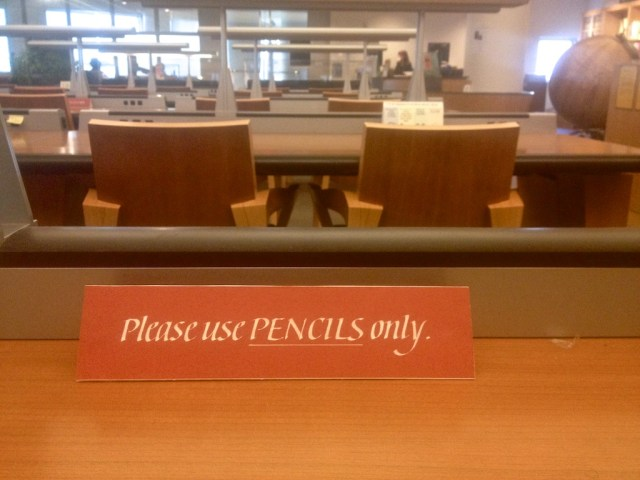 SFPL Use Pencils Only