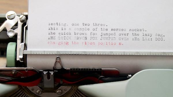 Hermes Rocket typing sample