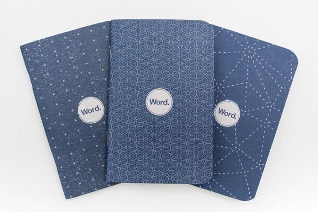 Word Notebooks in Indigo