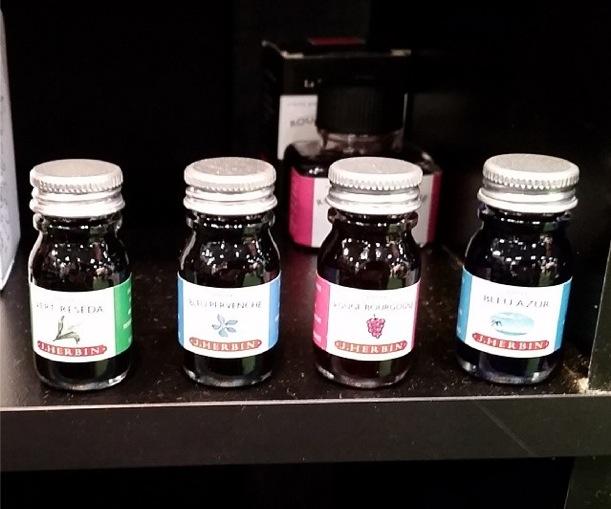 Office Supply Geek spies J. Herbin mini bottles
