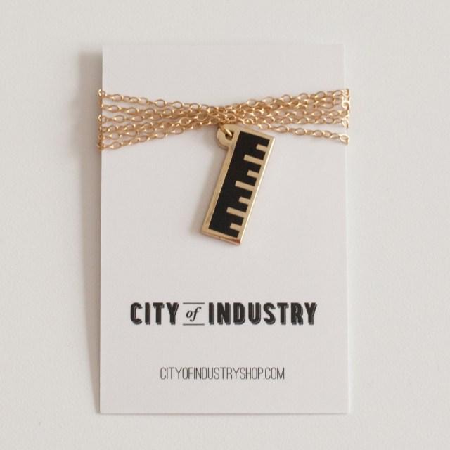 City of Industry Enamel Ruler Necklace