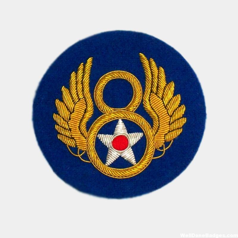 8th Army Air Force AAF Bullion On Felt Patch