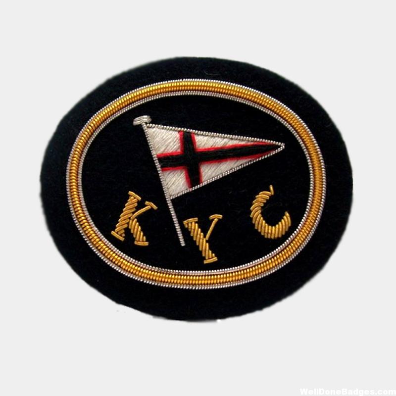 KY Club logo blazer badge