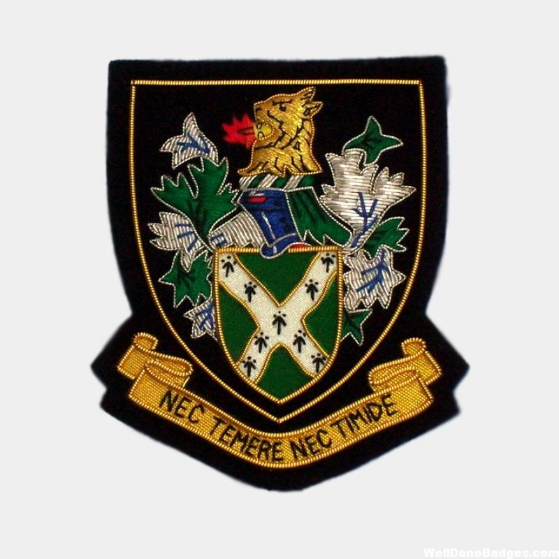 Nec Temere Nec Timide Blazer Badges