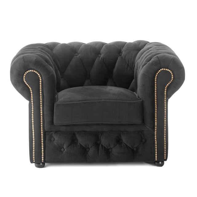 Chesterfield Sofa In Wales Chesterfield Armchair Black Fabric For Hire From Well