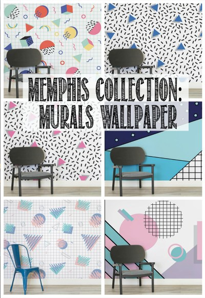 How To Hang A Wall Mural (Memphis Design, Toddler Helpers & Video!) - WELL I GUESS THIS IS ...