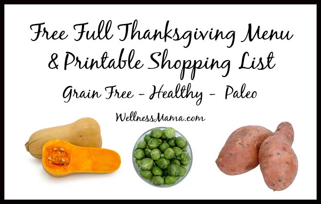 How to Plan a Healthy Thanksgiving Menu (Recipes + Printable)