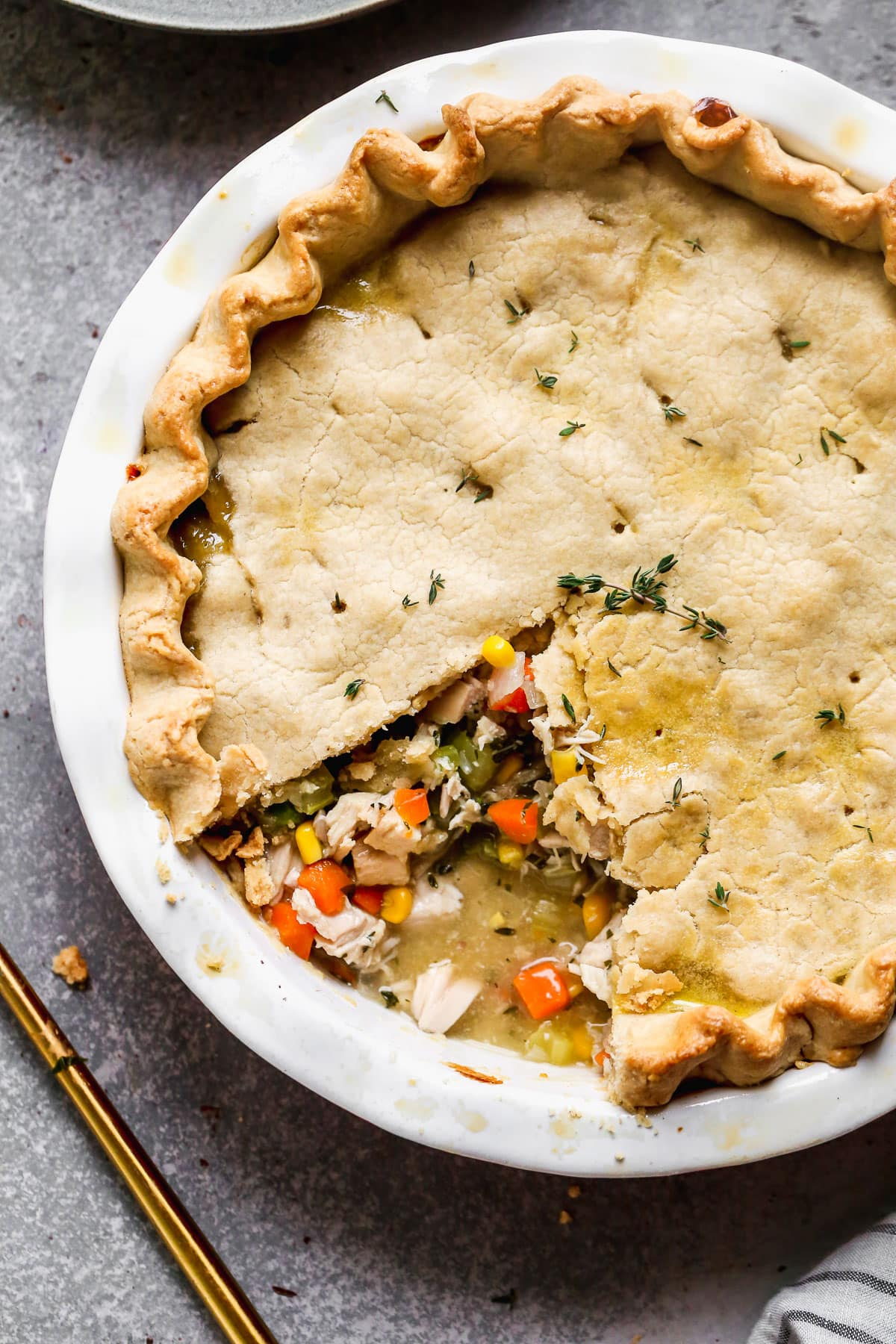 Turkey Pot Pie From Scratch Great For Leftover Turkey Well Plated