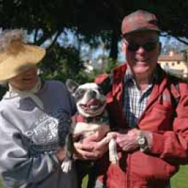 The Martins (Dick & Dottie) and their Boston Terrier, Pepper Q