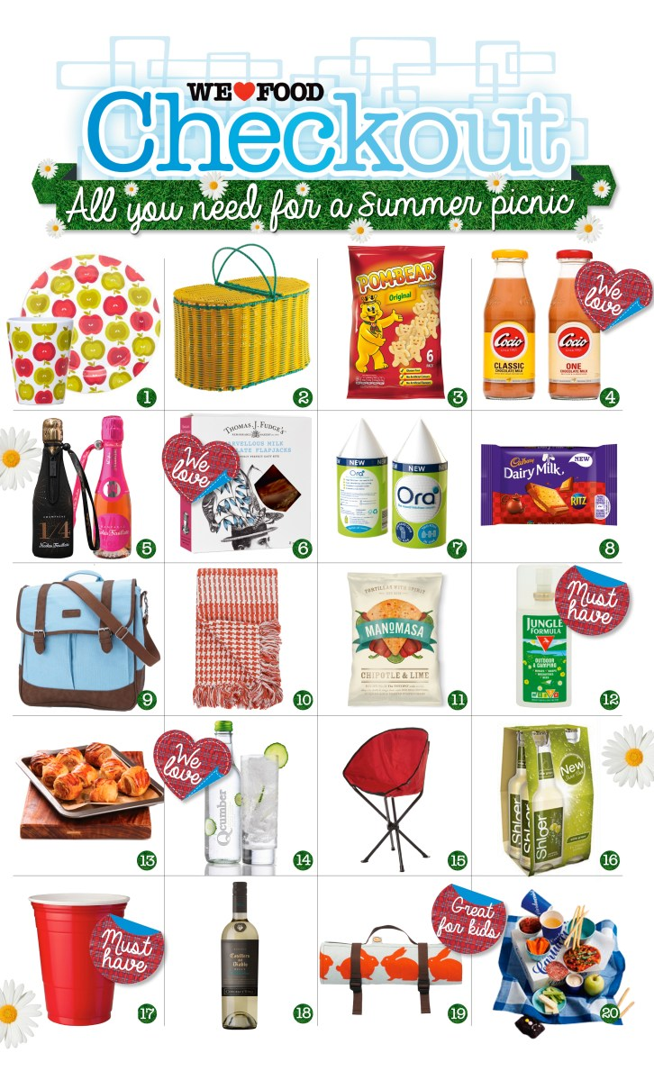 All you need for a summer picnic (when it stops raining) | Checkout Picnic Guide, Summer 2014