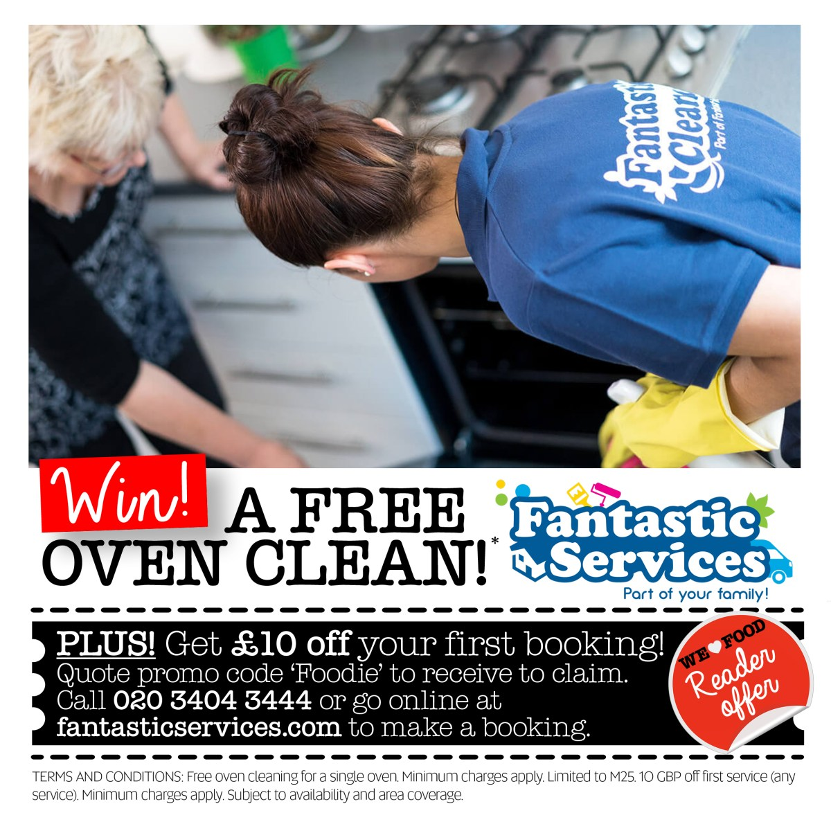 WIN A Free Oven Clean* With Fantastic Services & £10 Off Your First Booking!!