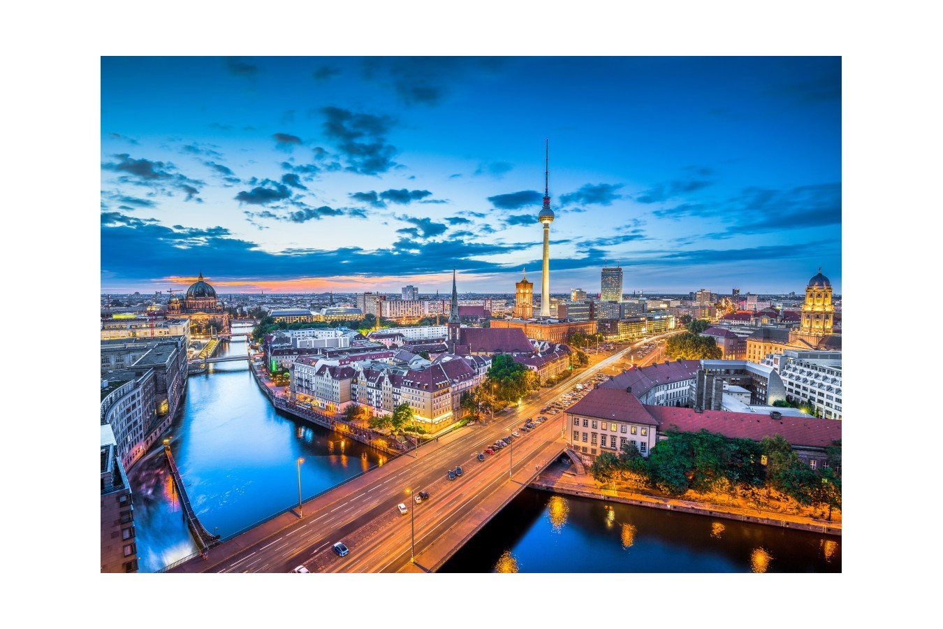 Berlin Puzzle Puzzle Grafika Kids Deutschland Edition Berlin Skyline In Twilight 100 Piese 60680 We Puzzle