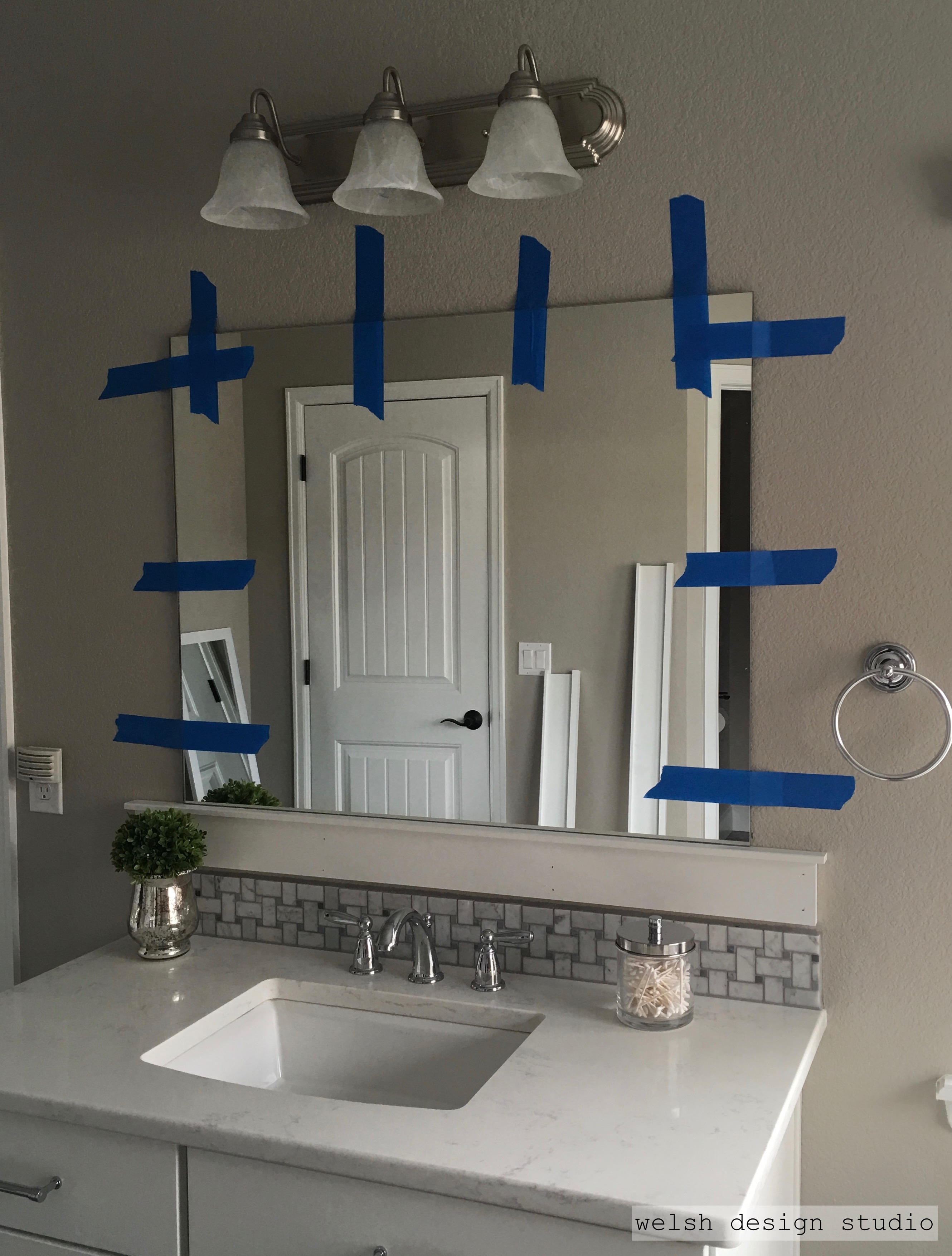Diy Framed Bathroom Mirrors Welsh Design Studio